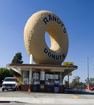 Välkänd donut, Randy's Donuts, Los Angeles