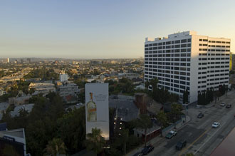 Utsikt från Hyatt West Hollywood, Sunset Boulevard