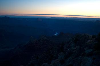 Gryning, klockan 04.53, Grand Canyon