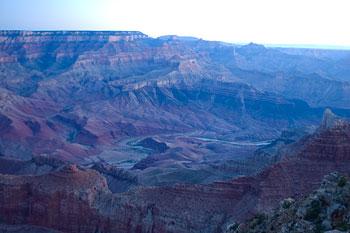 Gryning, klockan 04.58, Grand Canyon