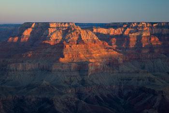 Gryning, klockan 05.24, Grand Canyon