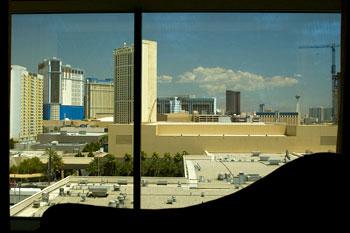 Utsikt ifrån MGM hotellrum, Las Vegas