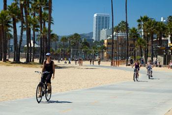 Cykelbana, Venice beach, Los Angeles