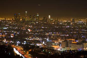 Utsikt över trafik, Los Angeles