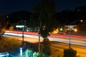 Trafiken utanför Hotel Angeleno, Los Angeles