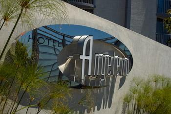 Hotel Angeleno mur och logo, Los Angeles