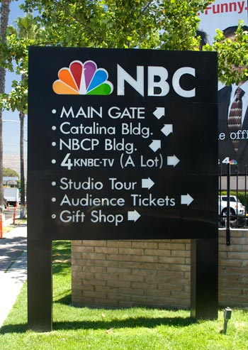 NBC studios vägskylt, Burbank, Los Angeles