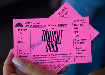 Biljetter till Tonight Show, NBC, Burbank, Los Angeles