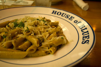 House of Blues pasta, Los Angeles
