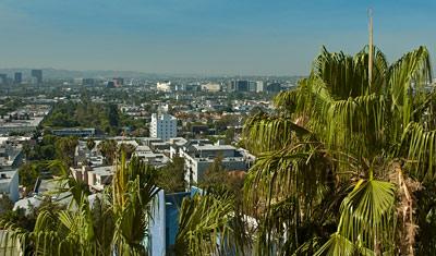 Utsikt från Hyatt, Los Angeles