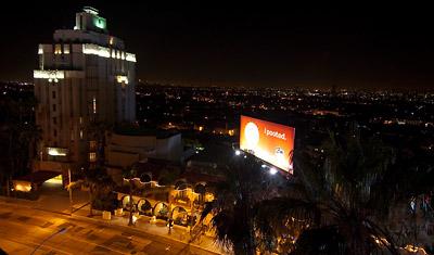 LA by night, utsikt från hotellet, Los Angeles