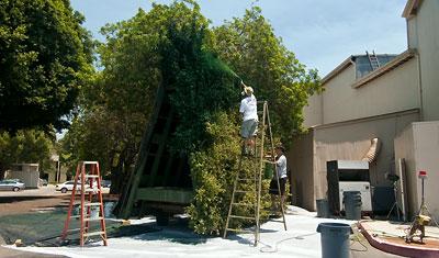 Buskar målas, Warner Brothers VIP Tour, Los Angeles