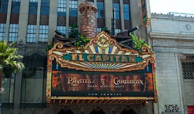 El Capitan Theatre, Hollywood Boulevard, Los Angeles
