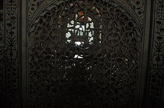 Inne i Taj Mahal