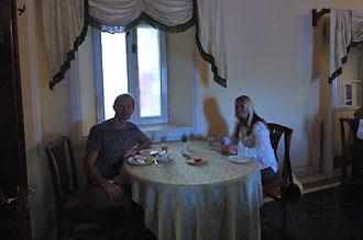 Frukost på Sariska Palace