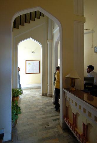 Receptionen på Sariska Palace