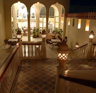 Restaurangen på Mandava Haveli