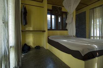 Ingång till vårt badrum på Baan Koh Mak, Koh Mak