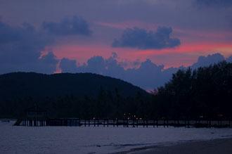 Solnedgång, Ao Kao Strand, Koh Mak