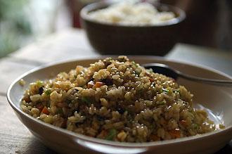 Stekt ris med grönsaker, Sakura Café,Beijing