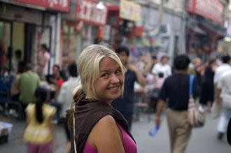 Anki i gatulivet bland hutongerna i Beijing