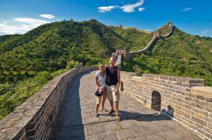 Anki och Lars på Kinesiska Muren