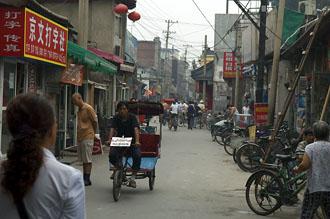 Morgonliv bland hutongerna i Beijing
