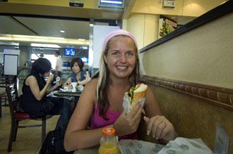 Lunch på Beijing flygplats