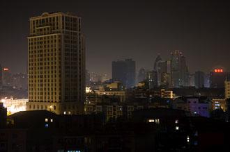Vy ifrån hotellfönstret i Chengdu