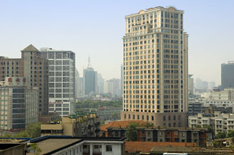 Utsikt från Tibet Hotel, Chengdu