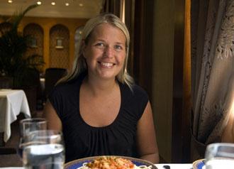 Anki, lunch på Tibet Hotel, Chengdu