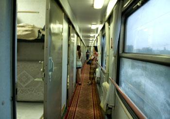 Softsleeper, tåg mellan Chengdu och Yangshuo