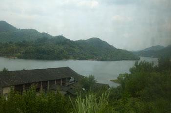 Tågresa mellan Chengdu och Yangshuo