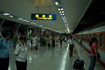 Tågstation i Yangshuo