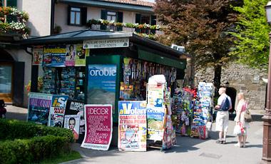 På väg upp mot Citta Alta, Bergamo
