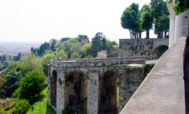 Utsikt från Porta San Giacomo, Citta Alta, Bergamo