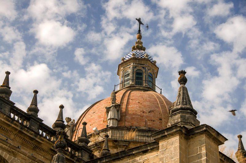 Kupolen på Catedral de Jerez de la Frontera