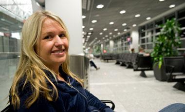 Anki på Frankfurt flygplats