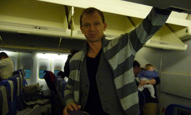 Lasse på qantas flyget