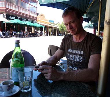 Lasse på Gino's i Fremantle