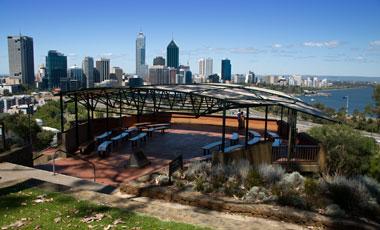 Perth skyline sett från Kings Park