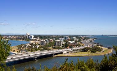 Utsikt från Kings Park, Perth