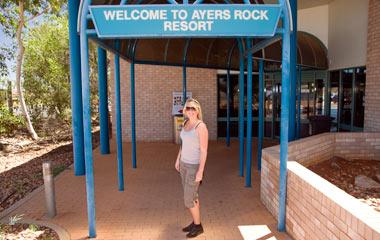 Anki vid Connellan Airport, Ayers Rock
