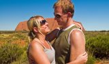 Anki & Lasse vid Ayers Rock