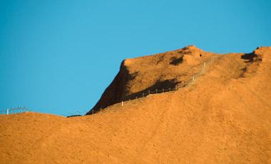 Klättring uppför Ayers Rock