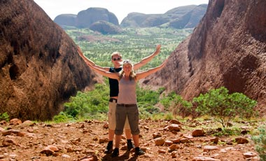 Lasse och Anki vid Valley of the winds, The Olgas