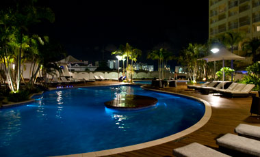 Pool by night, The Sebel Cairns Hotel, Cairns