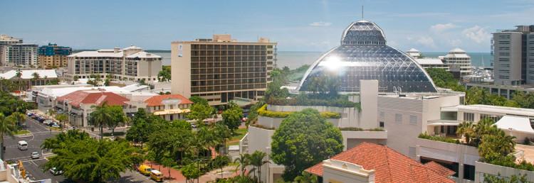 Utsikt från Sebel Hotel i Cairns, Queensland