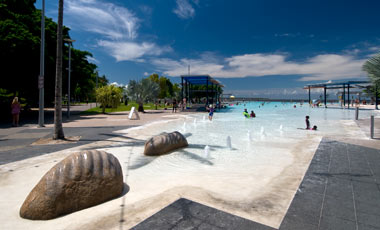 The lagoon, Esplanade, Cairns