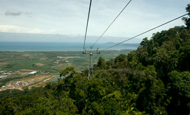 Skyrail rainforest cableway, Från Red Peak mot Cairns